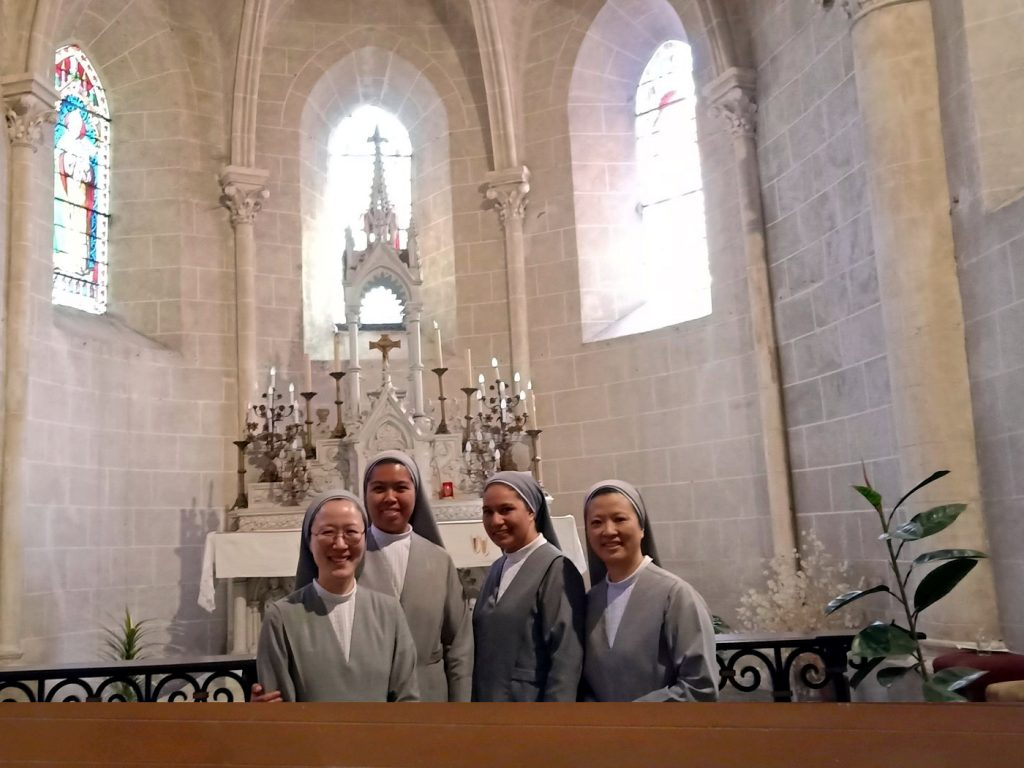 In front of the Altar of Levesville Church